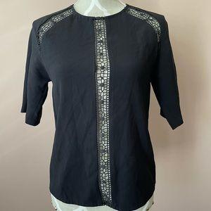 Wilfred aritzia detail black blouse